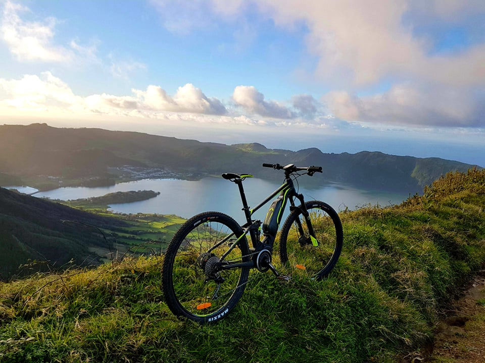 On the top of the mountain ( MTB Sete Cidades)